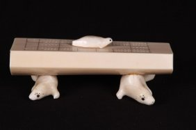 Inuit Cribbage Counter In Bone