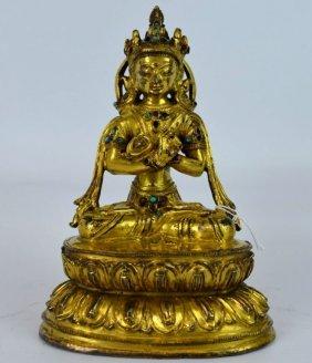 Christie's Paris - 16th C Tibet Gilt Vajradhara