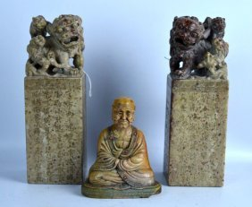 3 Antique Chinese Soapstone Carvings