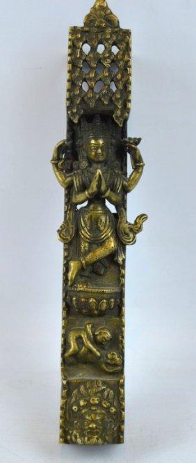 Antique Tibetan Bronze Figural Support