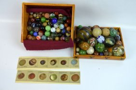 Old Collection Early American Glass & Clay Marbles