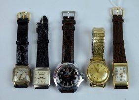 5 Vintage Men's Wrist Watches