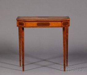 Late Georgian Crossbanded Satinwood Side Table, Rec