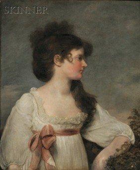 John Russell (British, 1745-1806) Portrait Of Miss