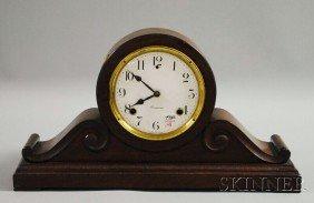 Sessions Mahogany Tambour Mantel Clock, Enameled A