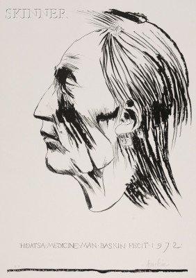 Leonard Baskin (American, 1922-2000) Hidatsa Medicin