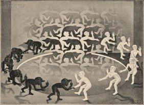 M.C. Escher (Dutch, 1898-1972) Encounter, 1944, Edi
