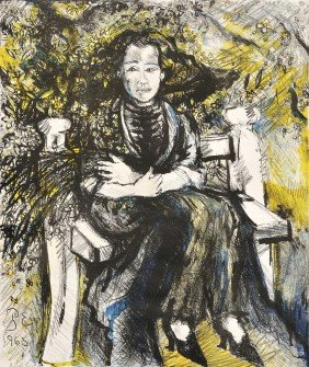 Philip Evergood (American, 1901-1973) Artist's Wife