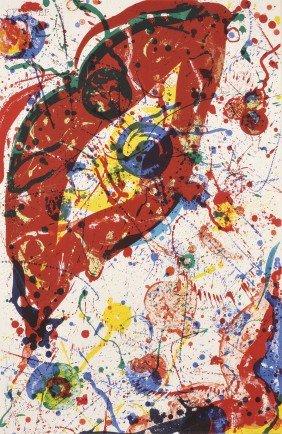 Sam Francis (American, 1923-1994) Untitled, 1988, E
