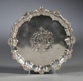 George III Silver Footed Salver, London, 1767, Eben