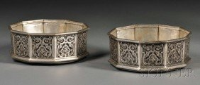 Pair Of Victorian Silver Wine Coasters, London, 185