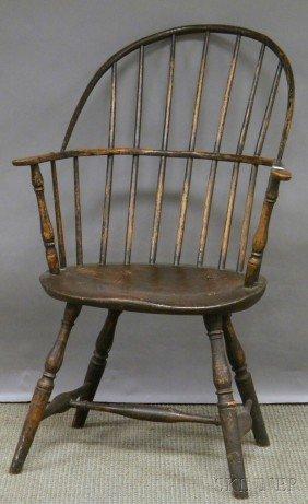Black-painted Windsor Sack-back Armchair, (pieced)