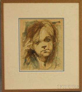 Conger A. Metcalf (American, 1914-1998) Portrait Of