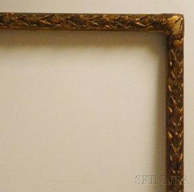 Gilt Carved Acanthus Frame, Rabbet 50 1/2 X 60 1/2,