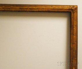 Carved Gilt-gesso Frame, Rabbet 44 1/2 X 67 1/4, Ov