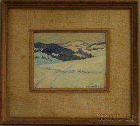 Romeo Vincelette (Canadian, 1902-1979) Snow-covere