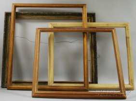 Four Assorted Wooden Frames, A Painted Carved Wood