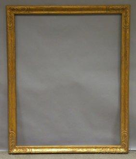 Arts & Crafts Gilt Carved Frame, Rabbet 50 1/4 X 4