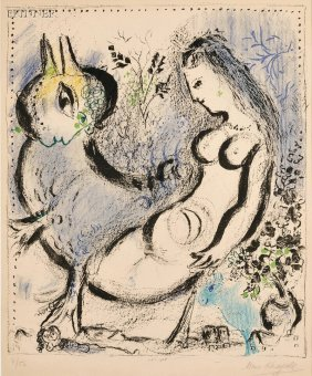 Marc Chagall (Russian/French, 1887-1985) La Nymphe