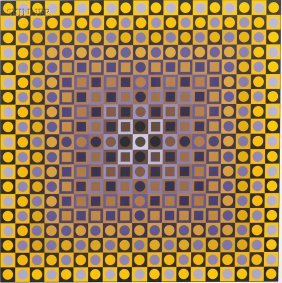 Victor Vasarely (French/Hungarian, 1906-1997) Two