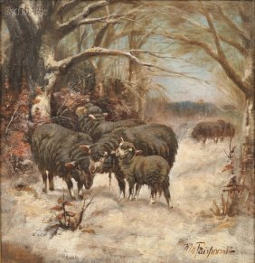 Nellie Pairpoint (American, Act. 1897-1914) Sheep