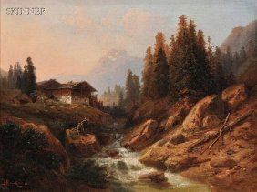 Heinrich Karl Br�ckner (German, 1805-1892) Fishing
