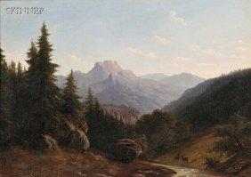 Walther W�nnenberg (German, 1818-c. 1900) Mountain