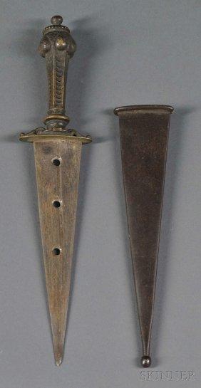Italian Renaissance-style Bronze Dagger, With Scab