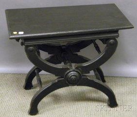 Victorian Ebonized Wood Adjustable Piano Bench, Lg
