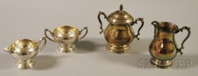 Two Sterling Silver Creamer And Sugar Sets, An Inte