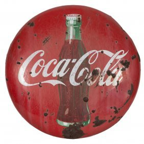 Coca-cola Button Porcelain Sign