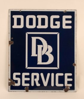 Dodge Brothers Service Porcelain Sign