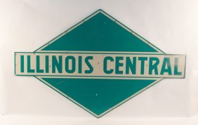 Illinois Central Railroad Metal Sign