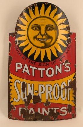 Patton's Sun Proof Paints Curved Porcelain Sign