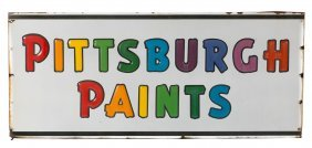Pittsburgh Paints Porcelain Sign