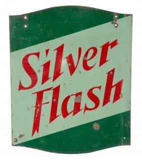Silver Flash Porcelain Sign