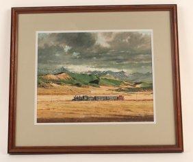 Original Richard Ward Painting Of Rio Grande Southern