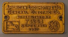 Oim 1101 - Rs-2 Diesel Locomotive Builder's Plate