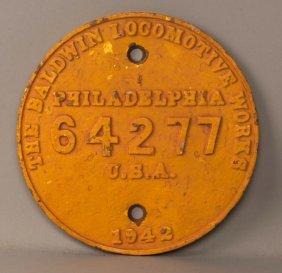 Oim 911 - Vo-1000 Diesel Locomotive Builder's Plate