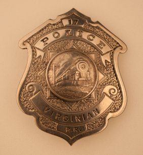 Virginian Railroad Police Badge