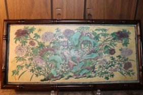 Antique Chinese Hand Painted Porcelain Plaque