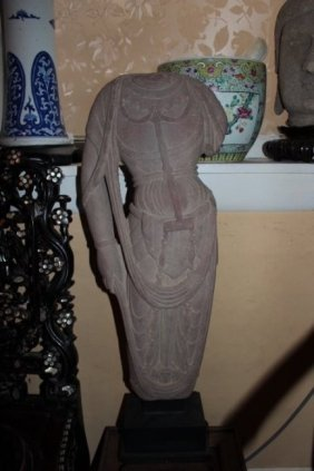 Antique Chinese Hand Carved Stone Statue
