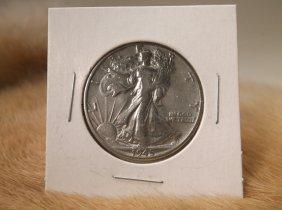 1945 D Us Silver Walking Liberty Half Dollar