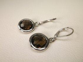 Gorgeous Sterling Silver Smokey Quartz Earrings
