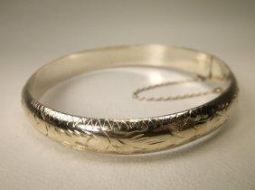 Beautiful Sterling Silver Bangle Bracelet