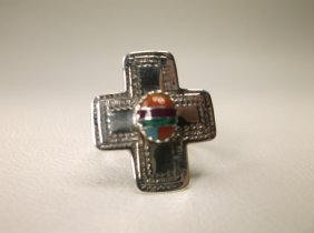 Gorgeous Sterling Silver Zuni Inlay Ring 6