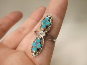 Gorgeous Navajo Sterling Silver Turquoise Ring 6.5