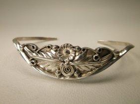 Gorgeous Sterling Silver Navajo Cuff Bracelet K