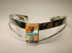 Gorgeous Sterling Silver Multi Turquoise Cuff Bracelet