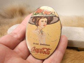 Original Antique Coca-cola Hand Mirror